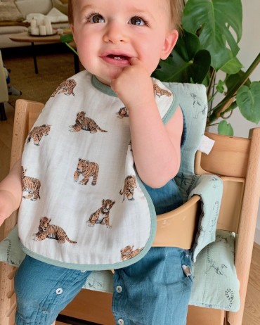 Baby Bib tiger Sage for child