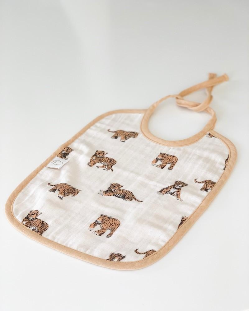 bavoir tigre en coton bio