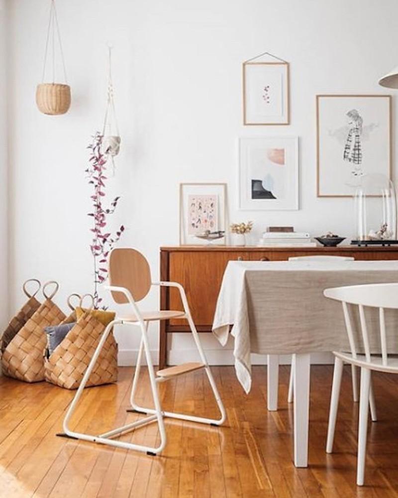 White evolutive high chair of the brand tibu