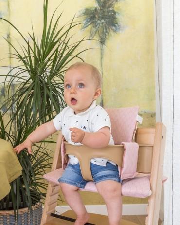 Graphic and Terracotta High chair Cushion