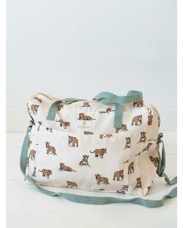 Grand sac à langer Tigre Sauge