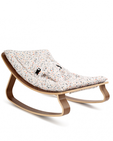 Transat LEVO Walnut with Terrazzo cushion
