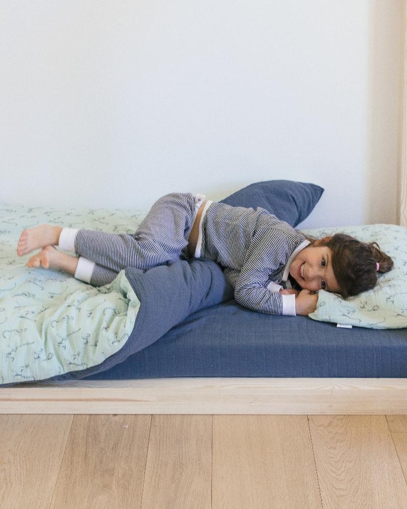 parure de lit en mousseline de coton de chez Milinane