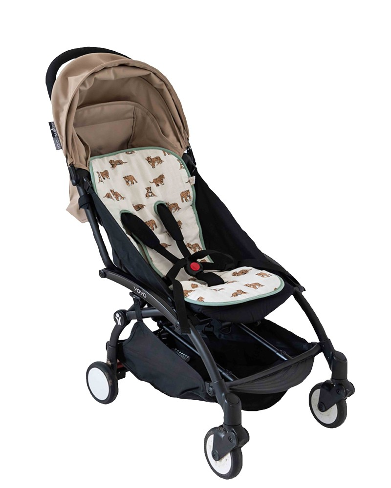 Stroller cushion with tiger pattern