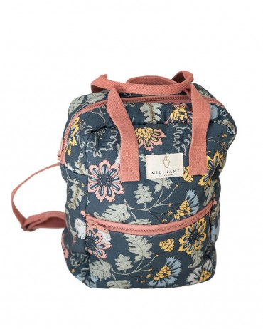 School backpack with bucolic dream pattern