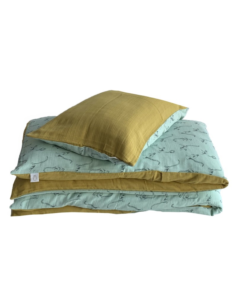 Curry bed linen set 100 x 140 cm