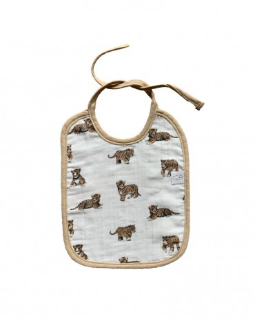 Pretty bib with Tiger and Sand design