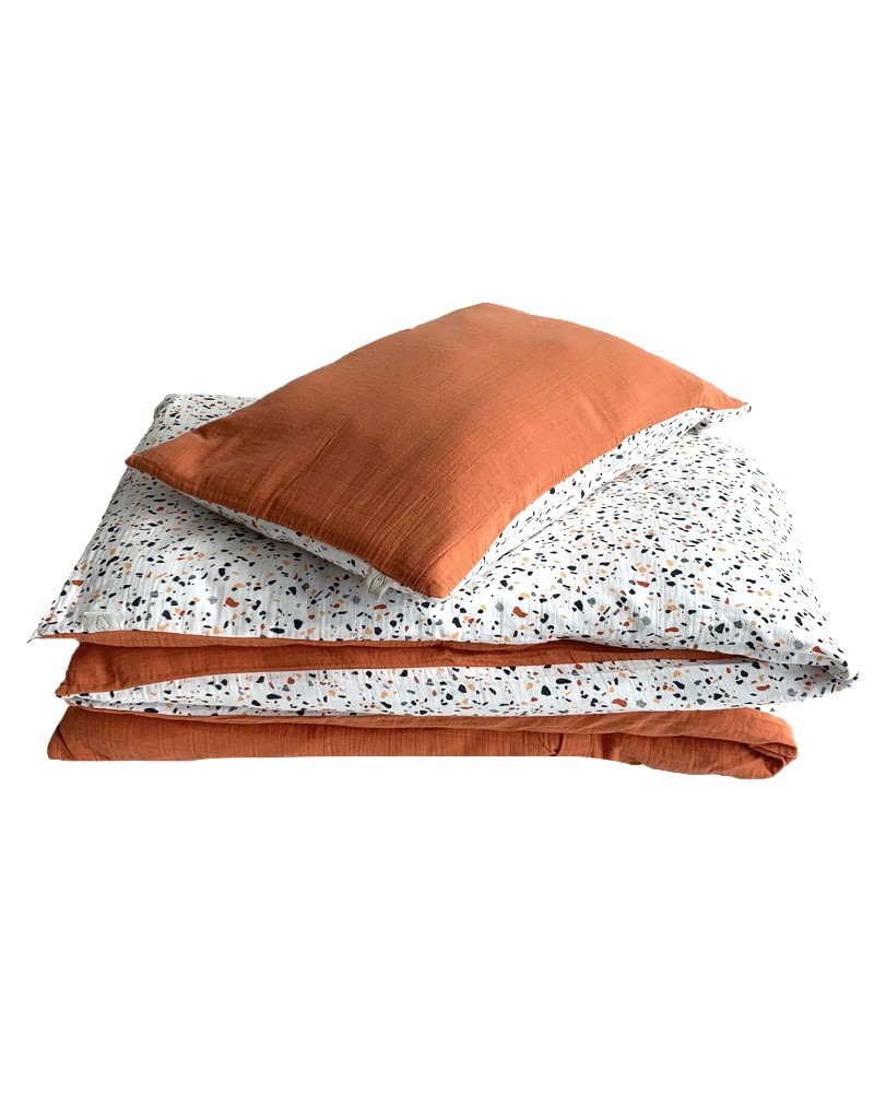 Terrazzo and Rust Bed Set from Milinane