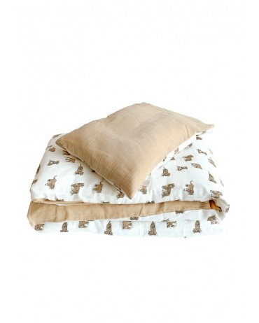 Pretty Tiger and Sand bed linen set