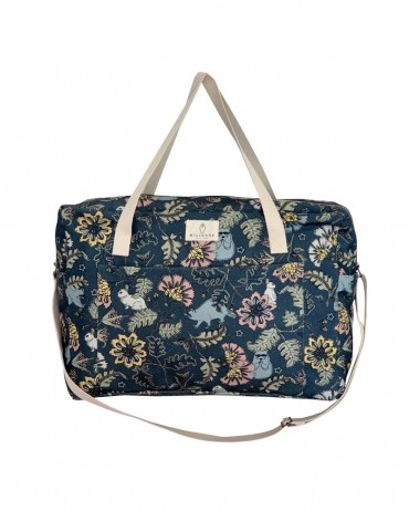 maternity bag with bucolic pattern