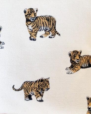 Matelas à langer tigre sauge mousseline de coton