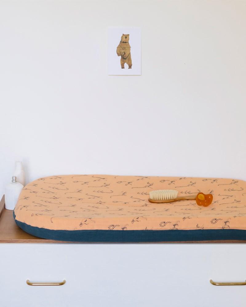 housse en coton bio lémurien