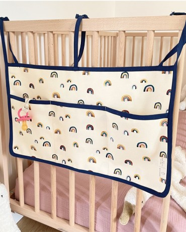 Pochette de rangement pour lit à barreaux