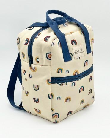 sac pour enfant au motif arc-en-ciel