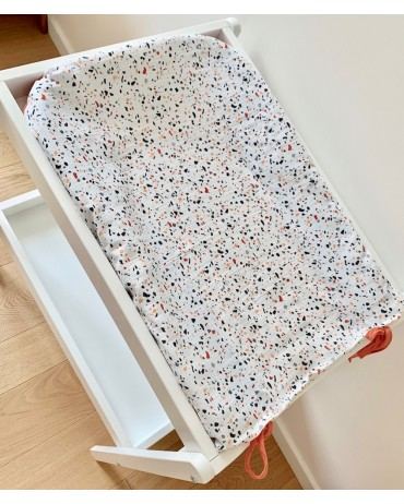 Terrazzo and Rust  Changing Mat Cover