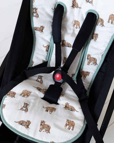 Stroller Cushion Tiger and Sage by Milinane