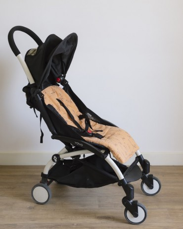 Stroller Cushion Lemur Peach and Storm - IRIS