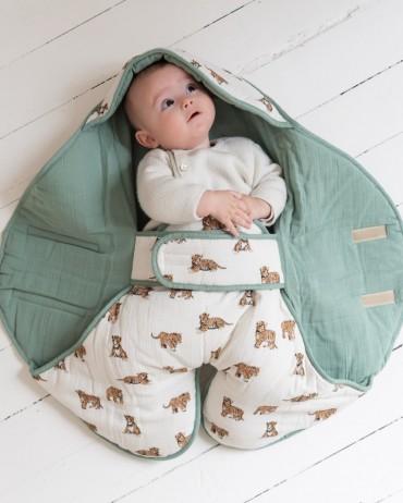Ergonomic Blanket tiger Sauge milinane