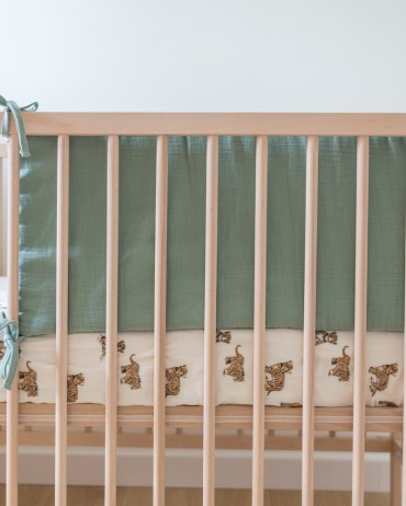 Sage Cot Bumper for baby