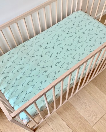 Fitted Sheet Lemur Celadon