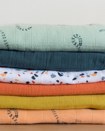Fitted Sheet Uni Storm for baby