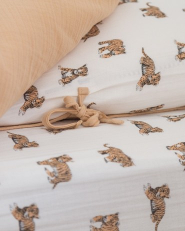 Fitted Sheet Tiger for your baby