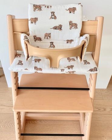 Tiger High chair cushion milinane