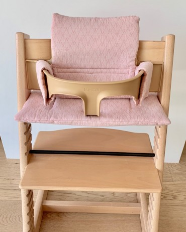 High chair Cushion Graphic and Terracotta