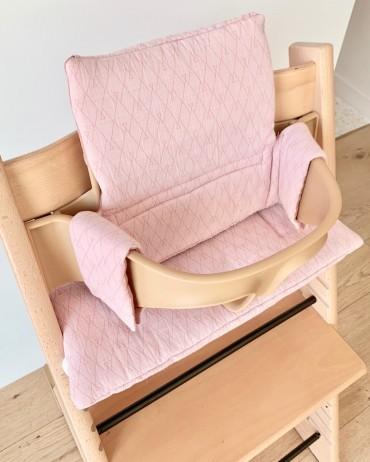 Pink High chair cushion milinane