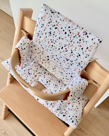 High Terrazzo and Rust Chair cushion for your baby