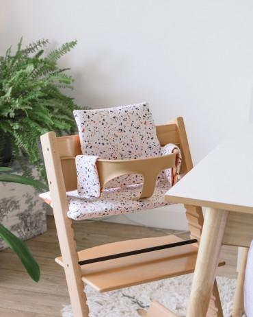 High Terrazzo and Rust Chair cushion