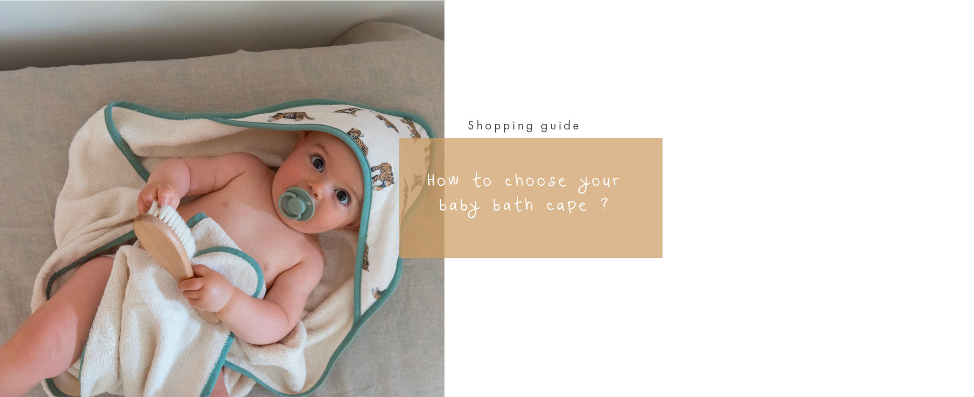 How to chose a baby bath cape