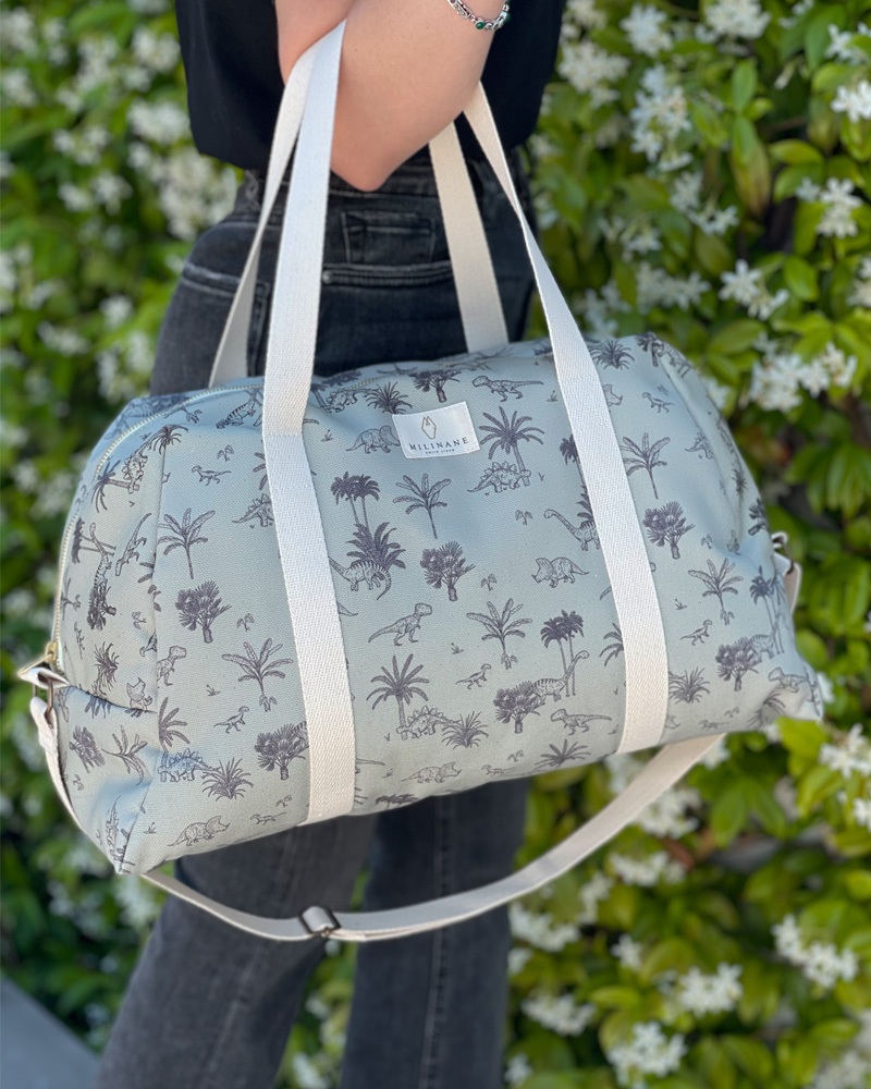Dino Diaper bag in cotton, Milinane