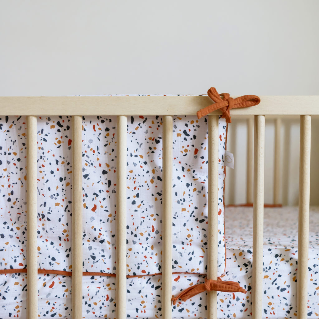 Cot bumber with Terrazzo