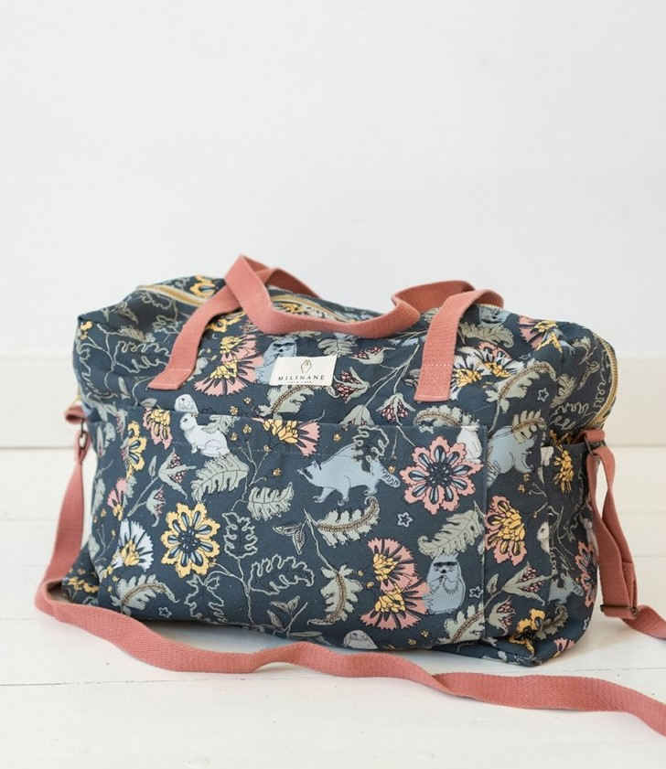 Large changing bag for trendy mums, Enchanted collection Reve Bucolique